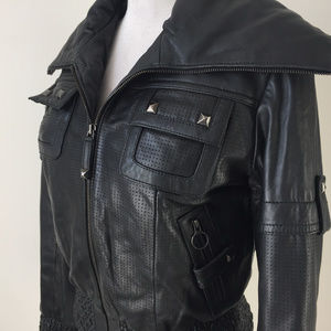 knoles & Carter Jackets & Coats - Knoles & Carter M L Genuine Black Leather Moto